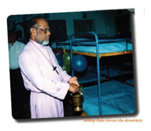 Bishop Raju blesses the dormitory