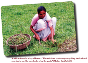 A widow from St Mary's Home -