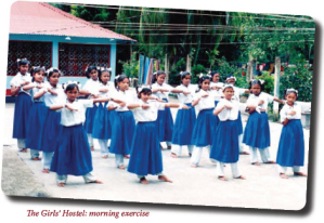 The Girl's Hostel: morning exercise