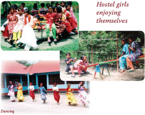 Hostel girls enjoying themselves